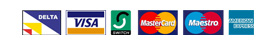 DELTA, VISA, SWITCH, MasterCard, Maestro, AMERICAN EXPRESS